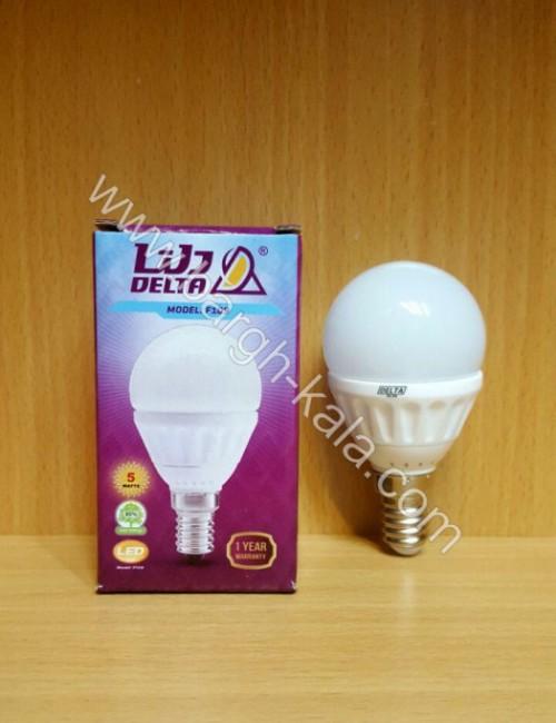 لامپ کم مصرف حبابی دلتا ۵ وات