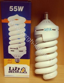 لامپ کم مصرف پیچی ۵۵ وات دلتا