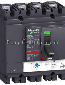 کليد اتوماتیک الکتریک چهار پل 40 آمپر ظرفیت قطع 50KA اشنایدر Schneider